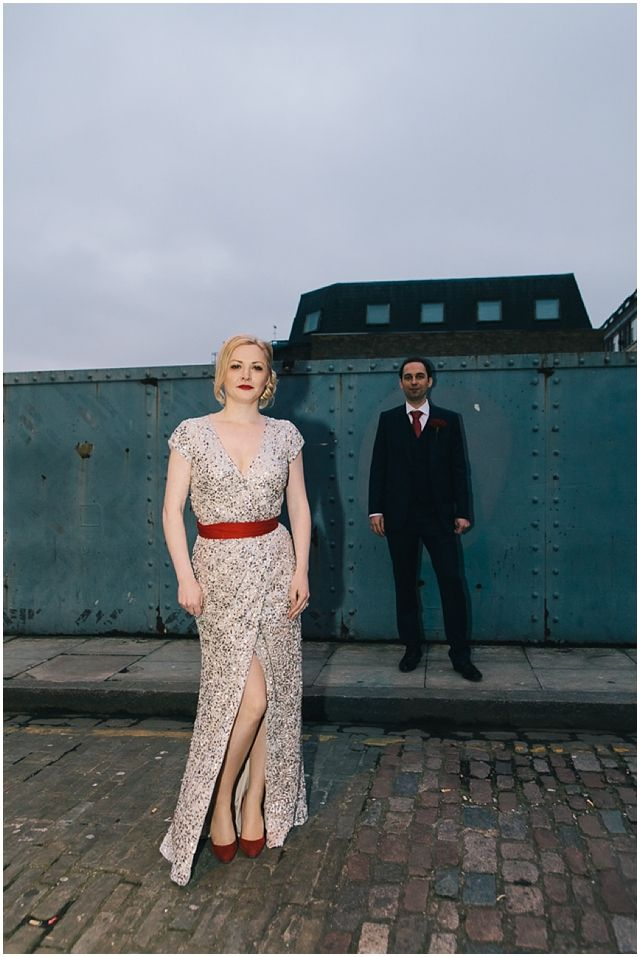 Bride In Sequin Glitter Dress For A London Wedding By Brighton Photo