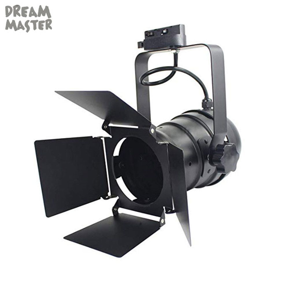 Industrial Led Track Light Black Theater Lights With 4 Leaf Barn