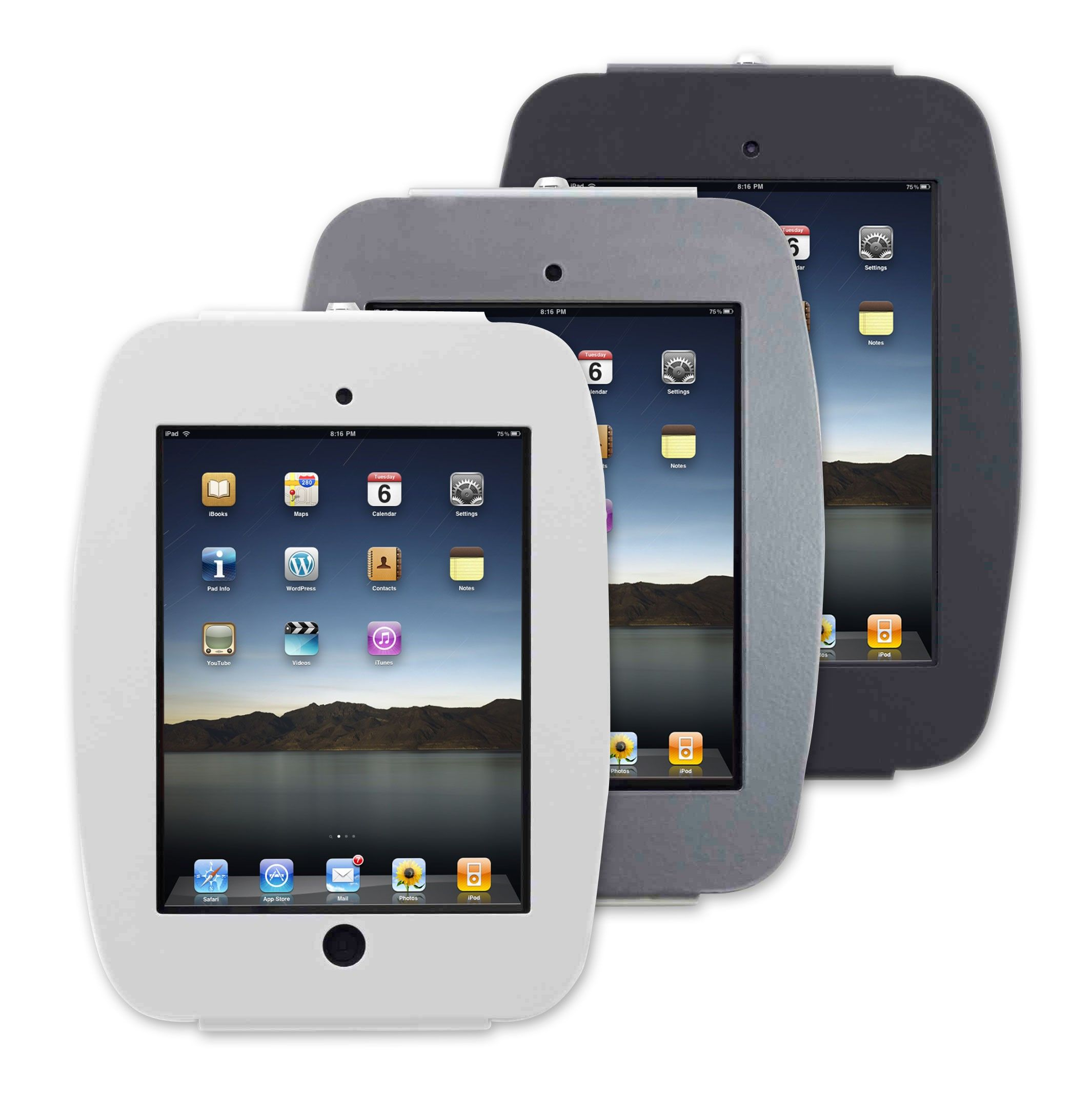 Ipad Wall Mount 96 Maclocks Space Ipad Enclosure Silver Ipad Locking Enclosure Is A Top Security Version Of Our Best Selling Ipad Lock And Secur With Images Ipad Kiosk