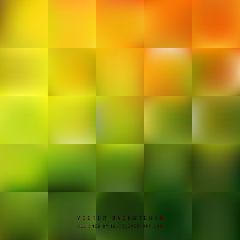 Abstract Orange Green Square Background Design Abstract