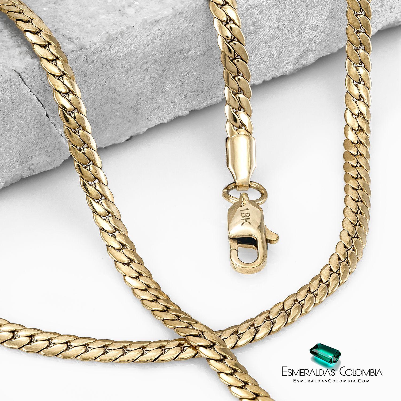 Cadena Serpiente Oro Laminado 18 K Joyeria Anillos De Plata Cadenas