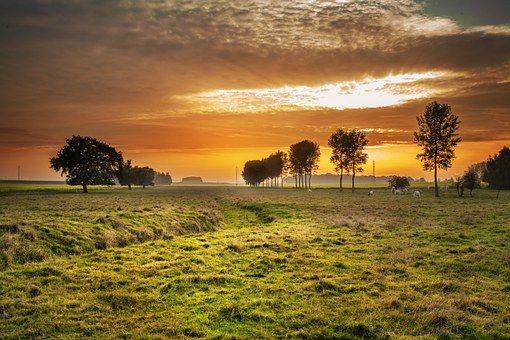 Platteland, Twilight, Zonsondergang