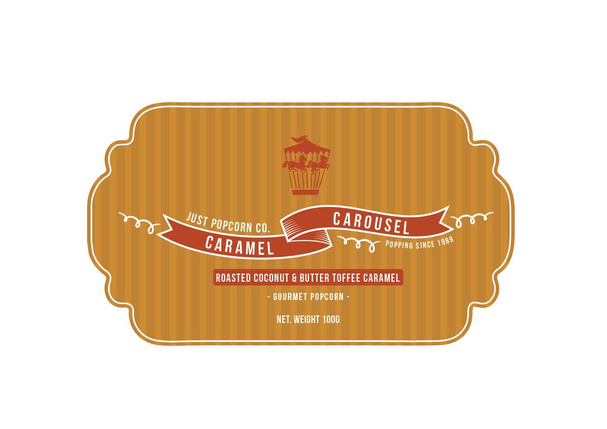Caramel Carousel Popcorn Packaging on Behance