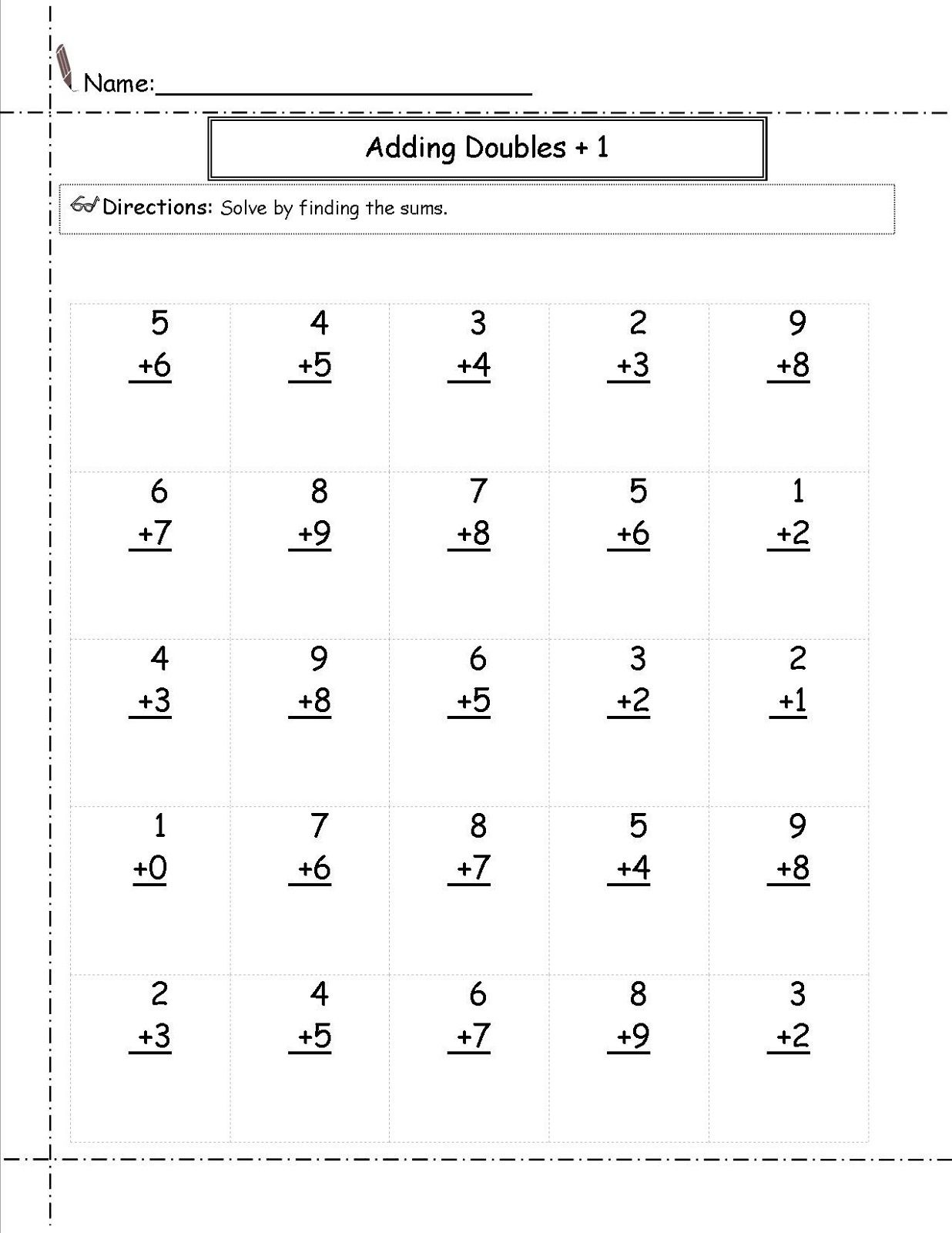 Printable Math Worksheets For 1st Grade