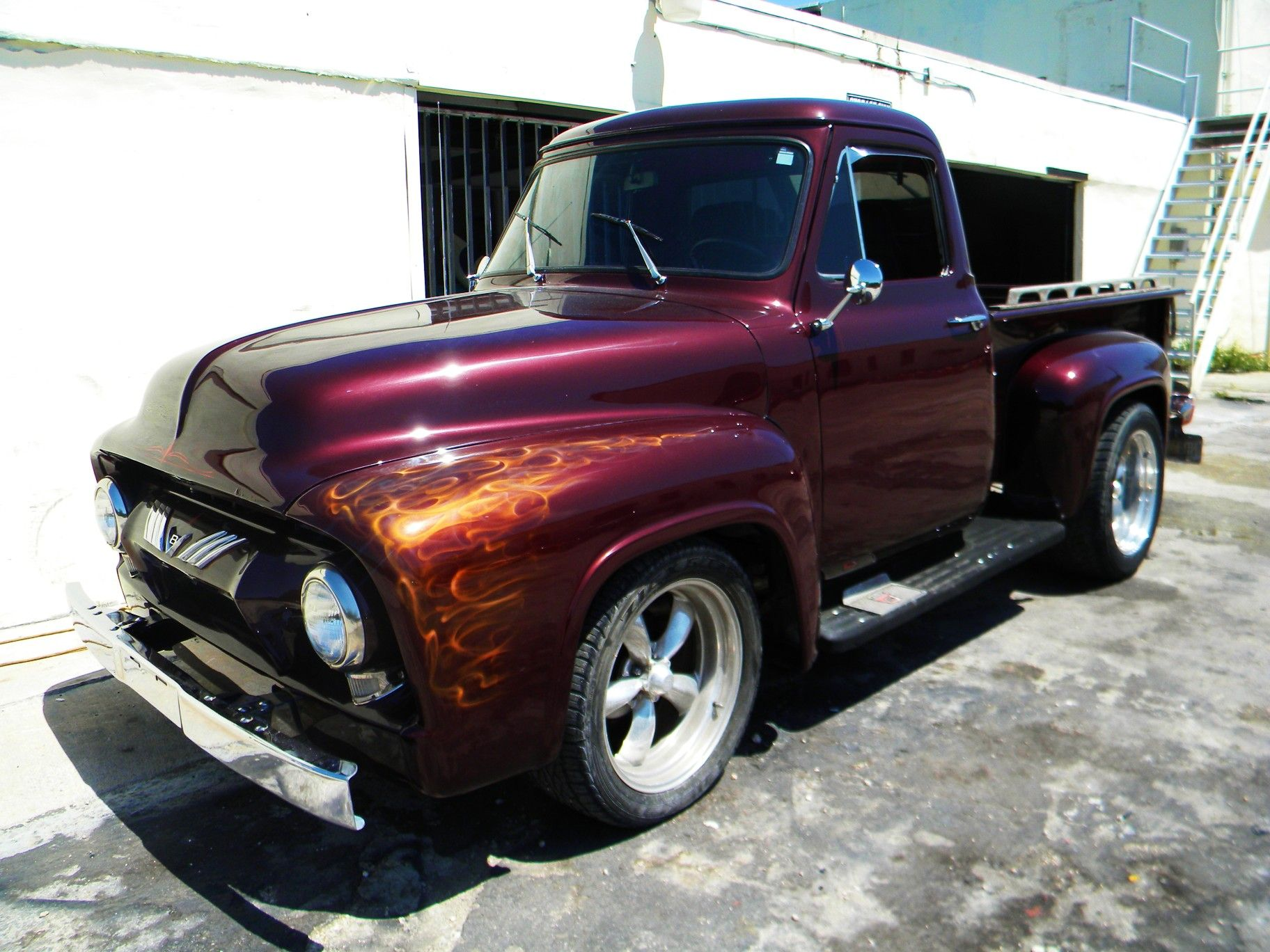 antique+cars+&+trucks+burgundy+colored | ... door Pick up Street Rod ...
