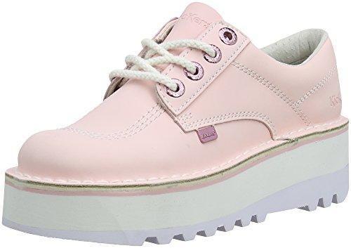 Kick Footwear Zapatos de Cordones Para Mujer, Color Blanco, Talla EU 38