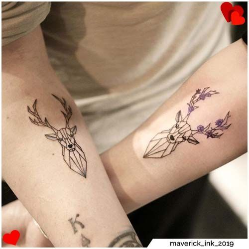 Deer couple tattoos  deer couple tattoos    Deer couple tattoos  deer couple tattoos