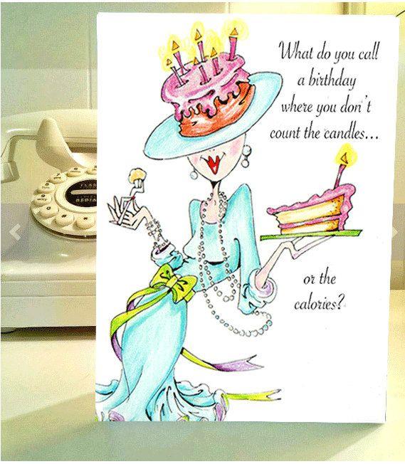 Funny Birthday Card Women Humor Greeting By VanityGallery