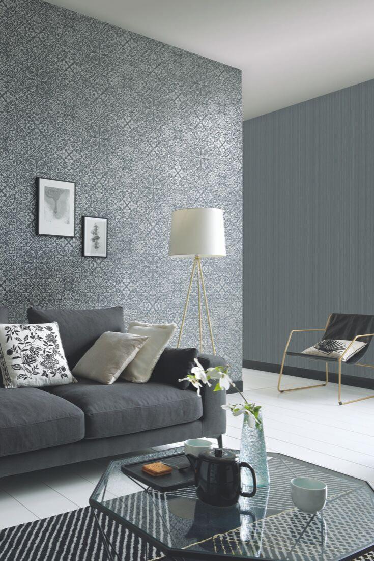Glamourfaktor Grau! Graue Tapeten mit unterschiedlichen Designs