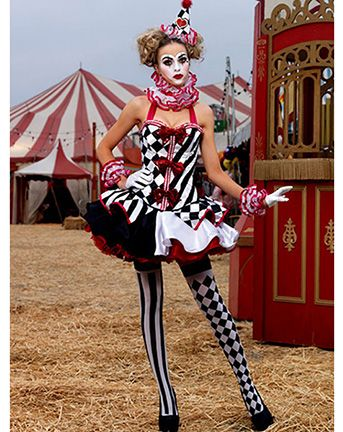 79107a82b6194 WOMEN'S SEXY DELUXE HARLEQUIN CLOWN COST   Holidays   Vintage circus ...