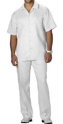 Steve harvey big & tall 4xl shirt pants 48x34 white linen shirt ...