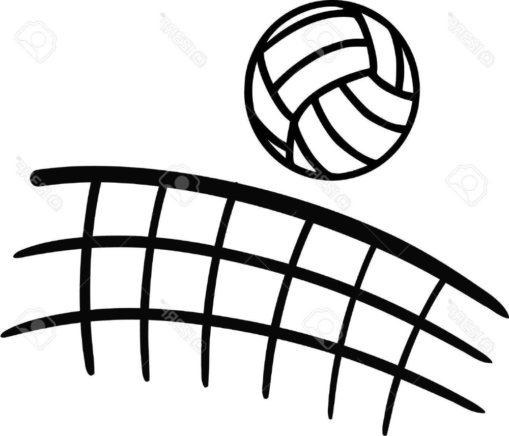 HD Volleyball Net Sketch Vector Pictures » Free Vector Art