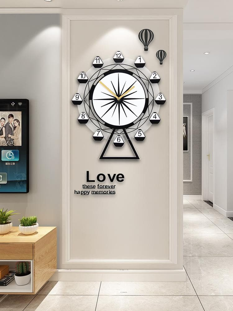 Modern Wall Clocks For Living Room Wall Clock Modern Design Quartz Hanging Clock Silent Living Room In 2020 Contemporary Wall Clock Wall Clocks Living Room Modern Wall