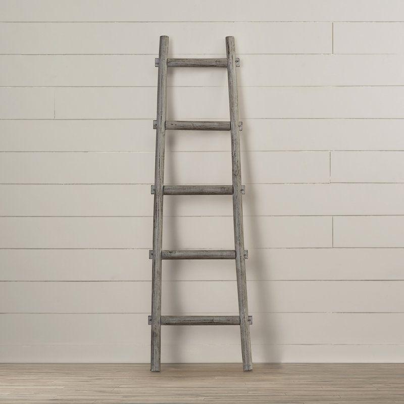 Lianes 5 Step Decorative Blanket Ladder Ladder Decor Blanket Ladder Wooden Ladder