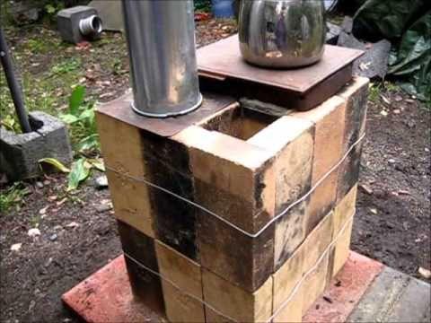 Rocket stove ideas 33 brick box rocket stove youtube for 4 block rocket stove