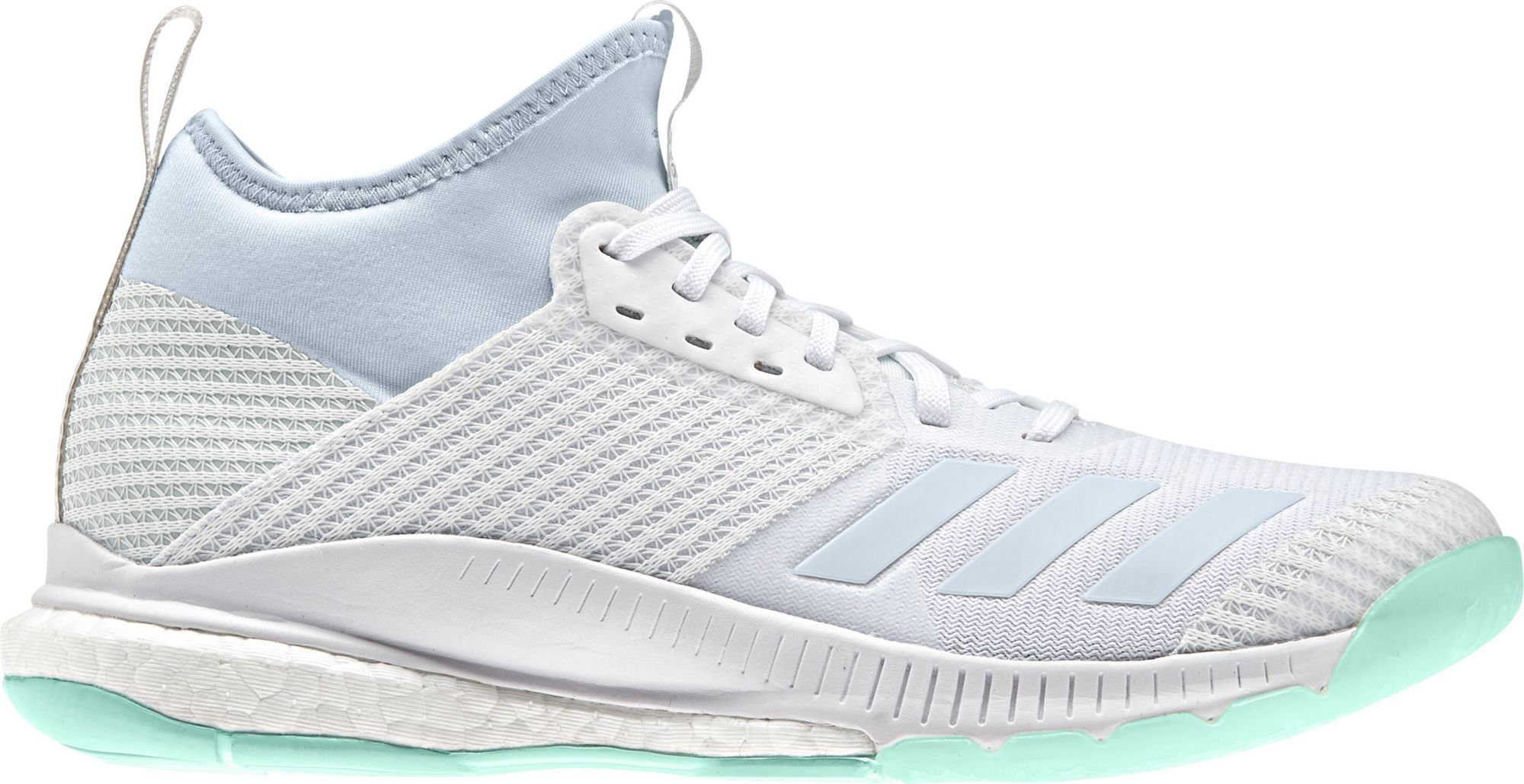 Adidas Women S Crazyflight X Mid Volleyball Shoes Size 5 5 White In 2020 Volleyball Shoes Girls Basketball Shoes Girls Shoes