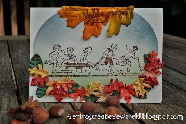Gerrina's Creatieve Wereld: Vrolijke groetjes / Cheerful greetings