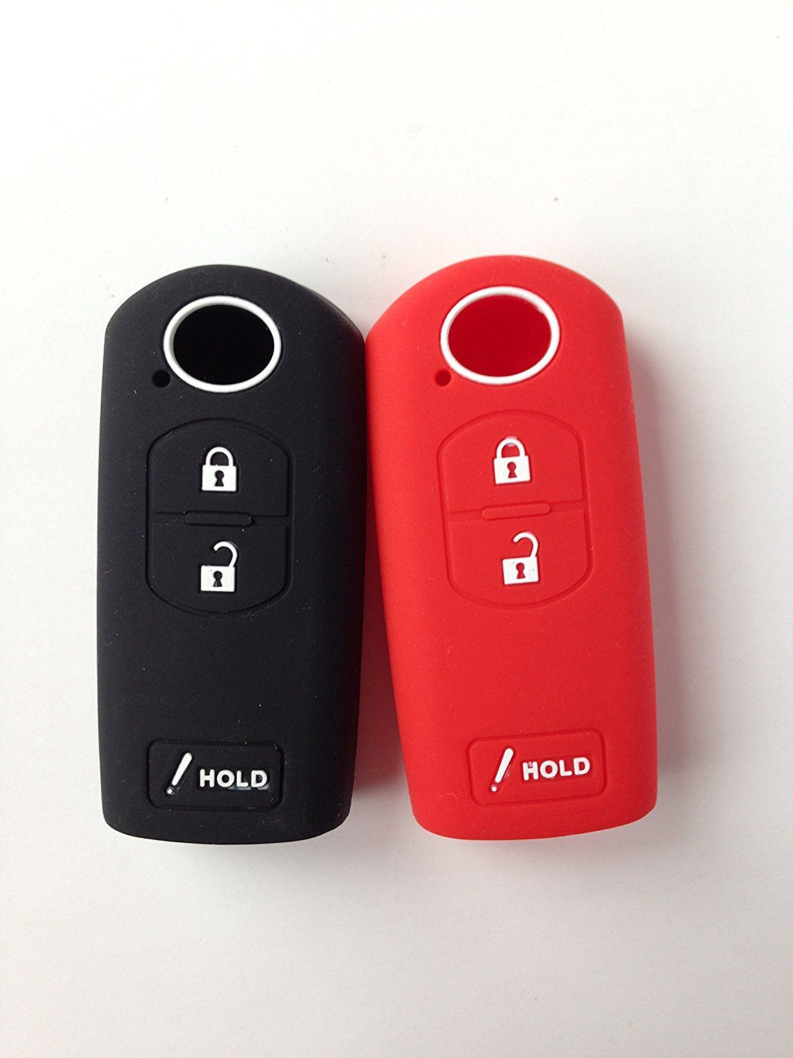 2pcs Key Cover Jacket Fit for MAZDA CX-5 CX-7 CX-9 MAZDA 3 WAZSKE13D01 keyless Entry Fob Remote Key Jacket Protector Gift * Read more reviews of the product by visiting the link on the image.
