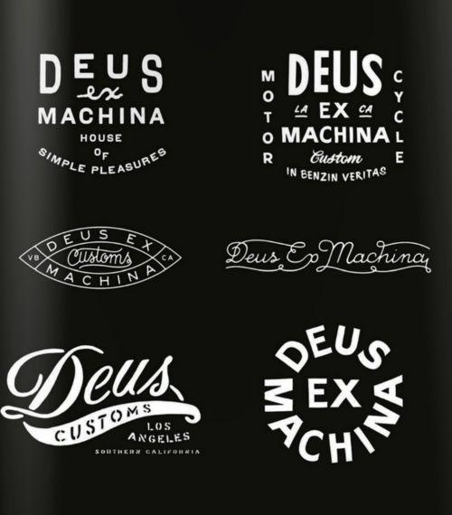 Tattoo Type Inspiration From Deus Ex Machina Motorcycle Logo Typography Typography Logo Vintage Typography