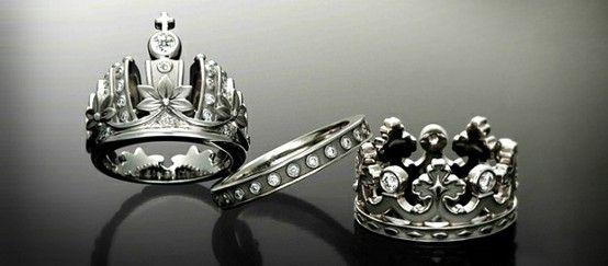 King And Queen Rings Crown Wedding Ring Wedding Ring Collections Matching Wedding Rings