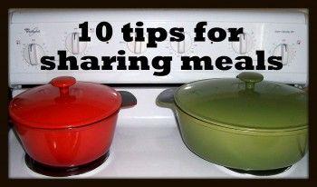 Ten tips for sharing meals @ Homemaker's Challenge
