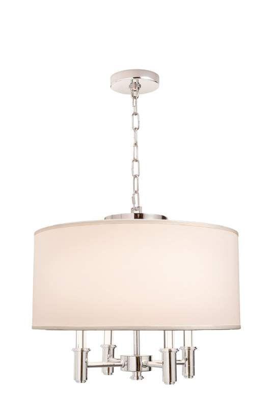 Good Kalco 500571 DuPont 4 Light Pendant Chrome Indoor Lighting Pendants