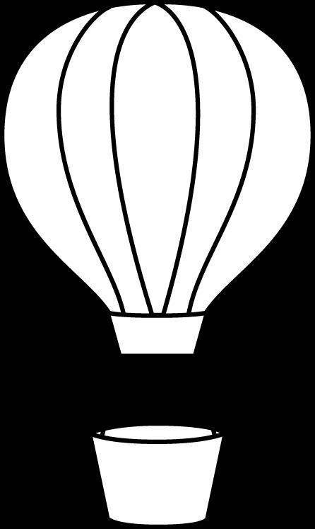 Black And White Hot Air Balloon Clip Art Black And White Hot Air Balloon Image Hot Air Balloons Art Balloon Template Hot Air Balloon Craft