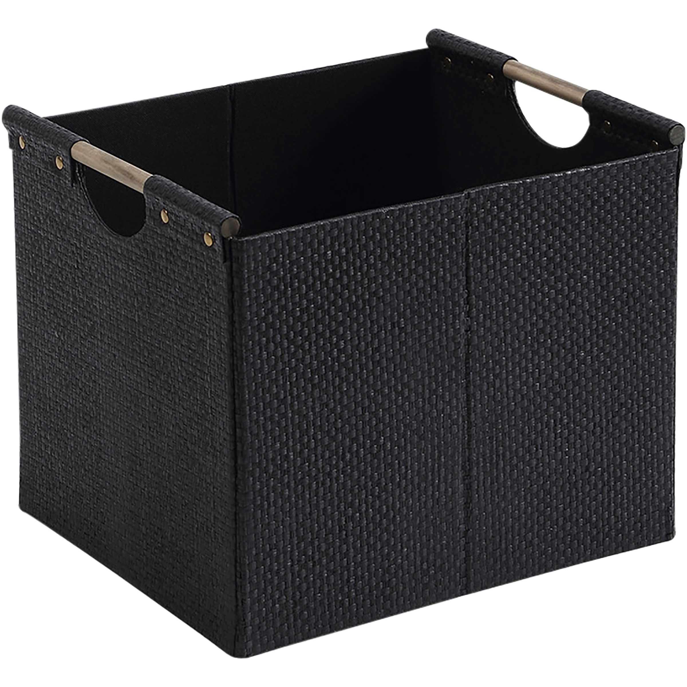 Better Homes And Gardens Woven Storage Bin Brown Durable Construction Walmart Com Storage Bin Storage Better Homes