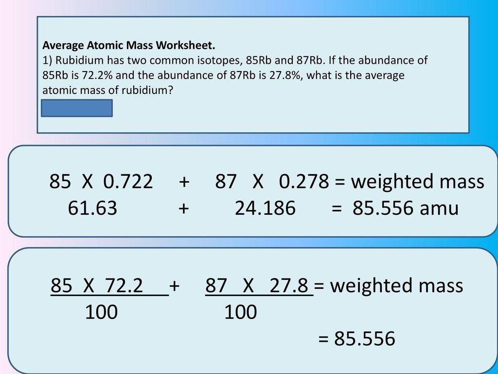 Average Atomic Mass Worksheet Atomic Structure The Nucleus 1 The Proton Ppt In 2020 Worksheets Kindergarten Math Worksheets Atom