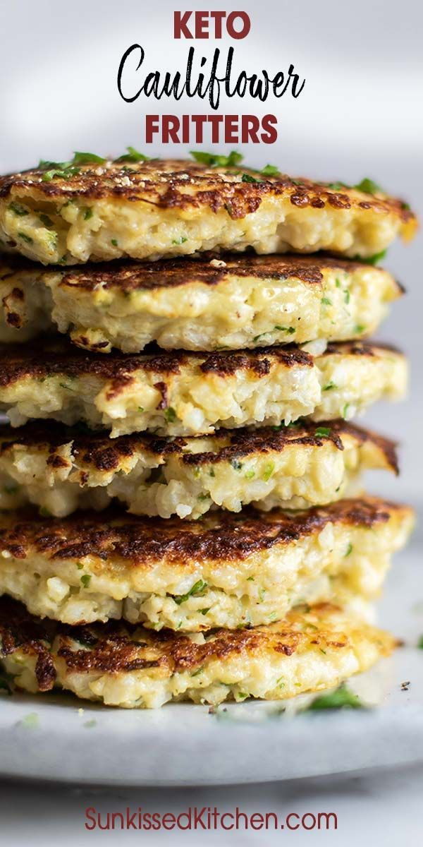Cauliflower Fritters / This easy flourless cauliflower fritter recipe makes a gr...   - Ideas (i will organize this once school is over) -