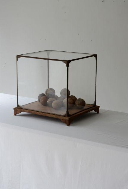 Japanese Copper Glass Keyaki Wood Display Case 展示ケース アンティーク インテリア リビング インテリア