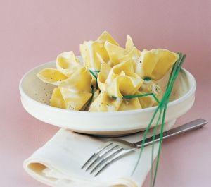Fagottini ripieni di zucca, cipolla e uvetta