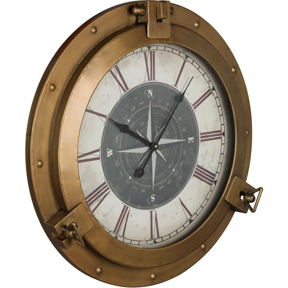 Cooper Classics Celestyn Clock Wall Clock Brass Wall Clock Bronze Clock