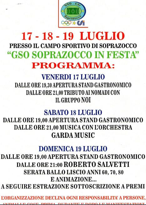 GSO Sprazocco in Festa a Gavardo http://www.panesalamina.com/2015/38381-gso-sprazocco-in-festa-a-gavardo.html