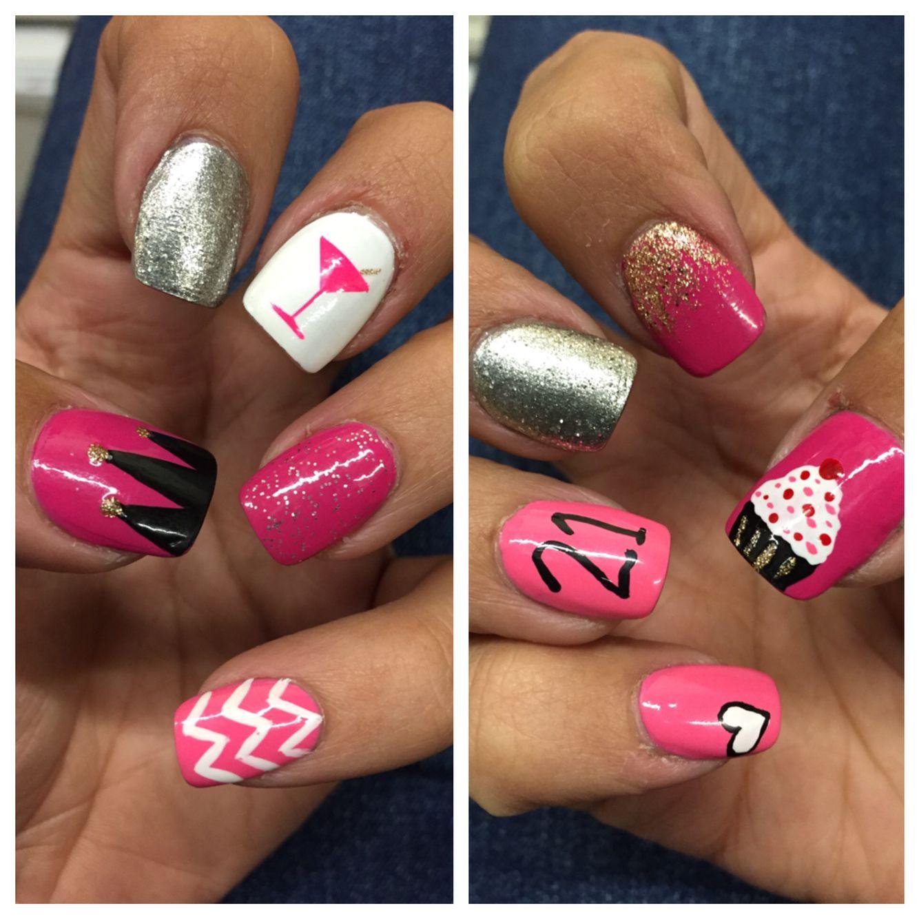 My 21st Birthday Nails Birthday Nail Designs 21st Birthday