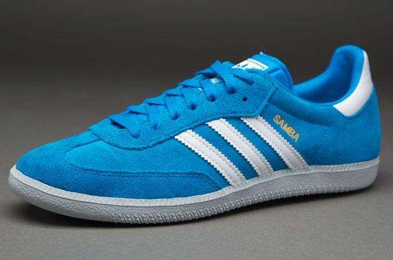 save off 5884b b281e adidas Originals Samba - Blue White Grey