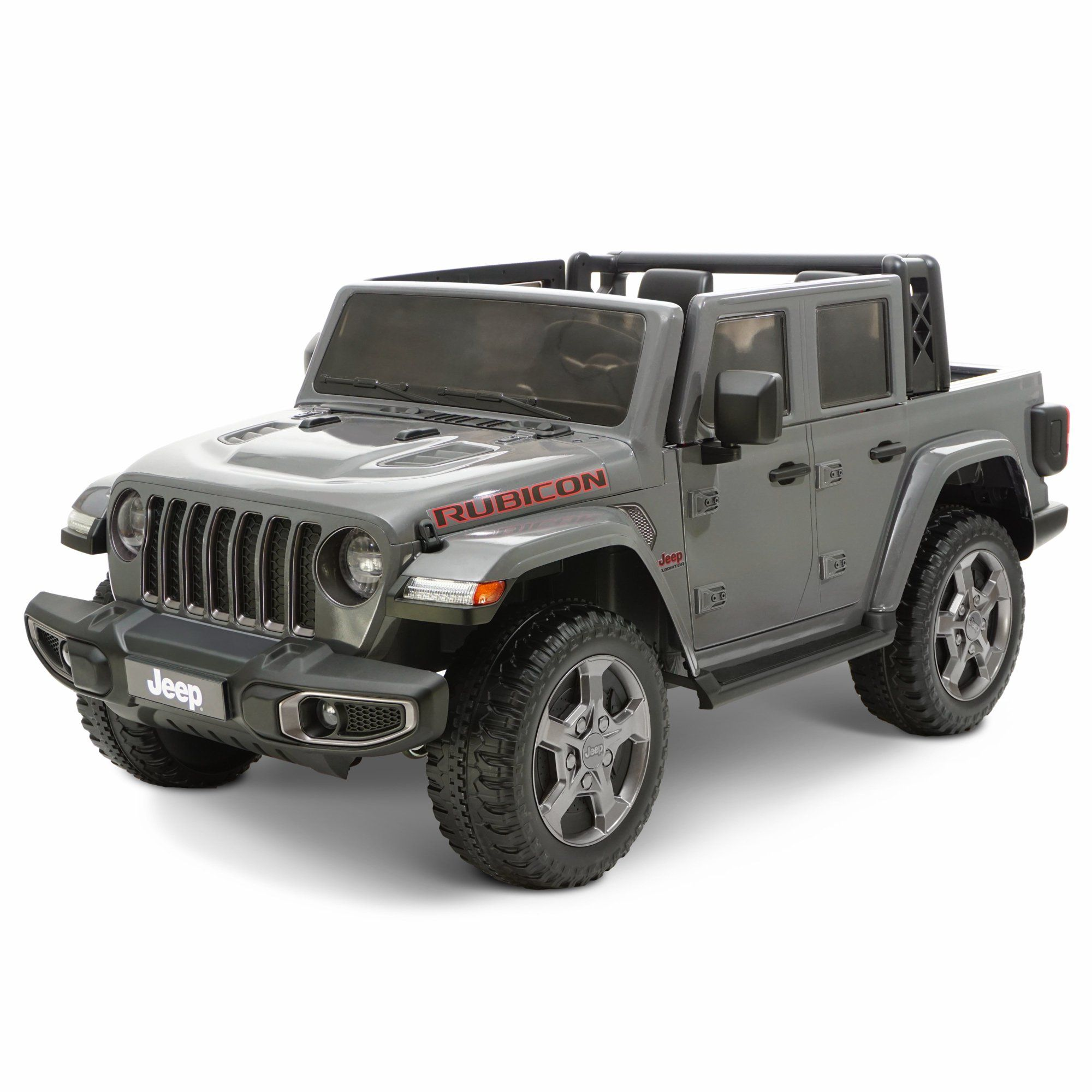 12 Volt Jeep Gladiator Battery Powered Ride On Vehicle Gray Walmart Com In 2020 Jeep Gladiator Jeep Power Wheels Truck