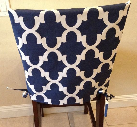 Chair And Stool Covers Reupholstering A Wingback Kitchen Slipcover Back Cover Dining Room Counter Or Bar Seat Washable Removable Gray Blue Teal