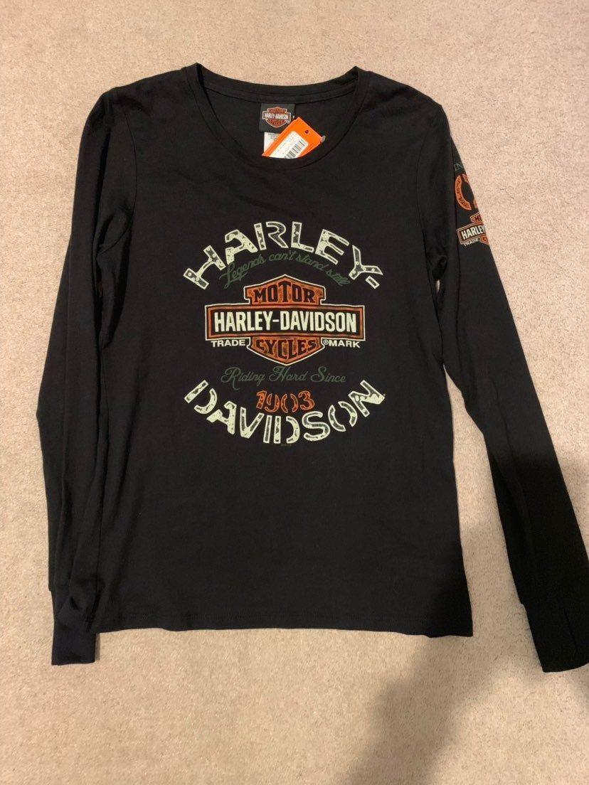 Harley Davidson Long Sleeve Shirt Brand New With Tags Women S Size Medium Harley Davidson T Shirts Long Sleeve Tshirt Men Long Sleeve Shirts