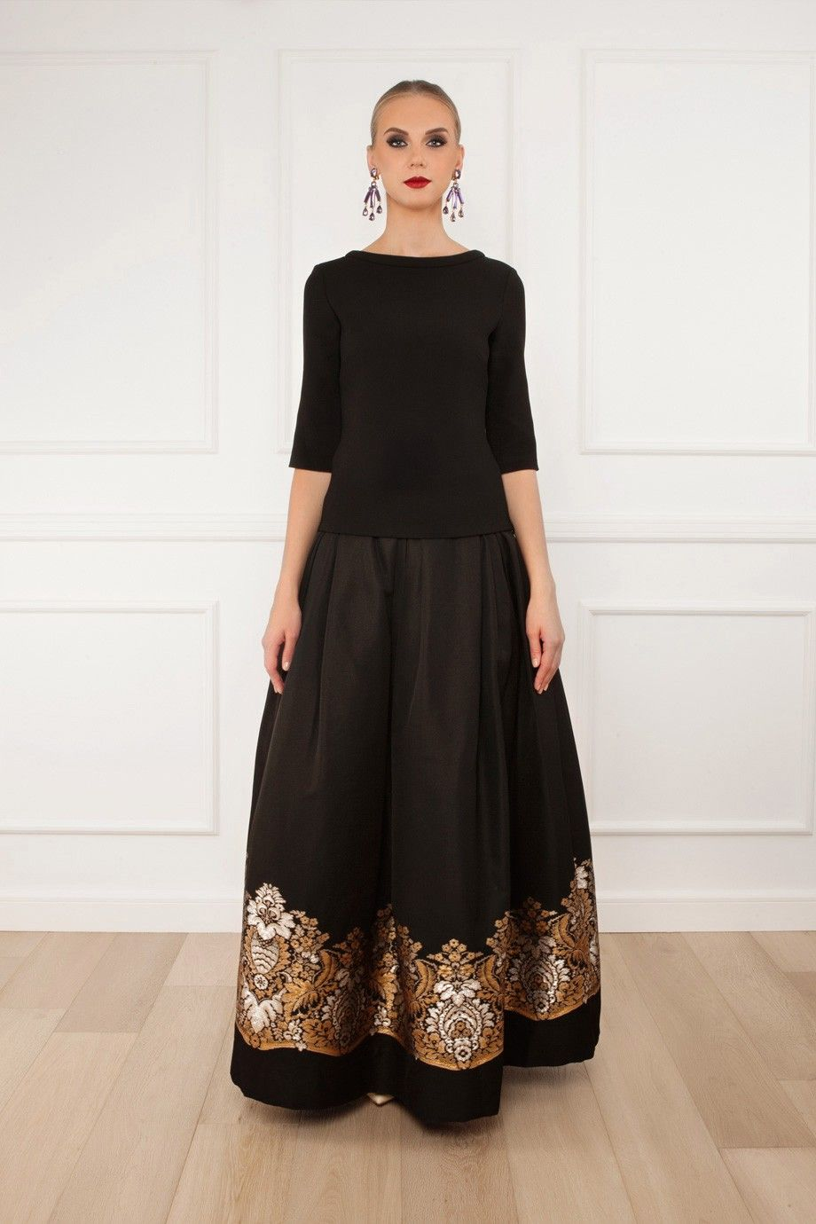 Embroidered Ball Skirt By MARTIN GRANT @ http://www.boutique1.com ...