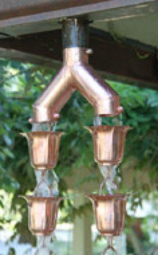 Make Your Own Rain Chain Rain Chain Downspout Copper