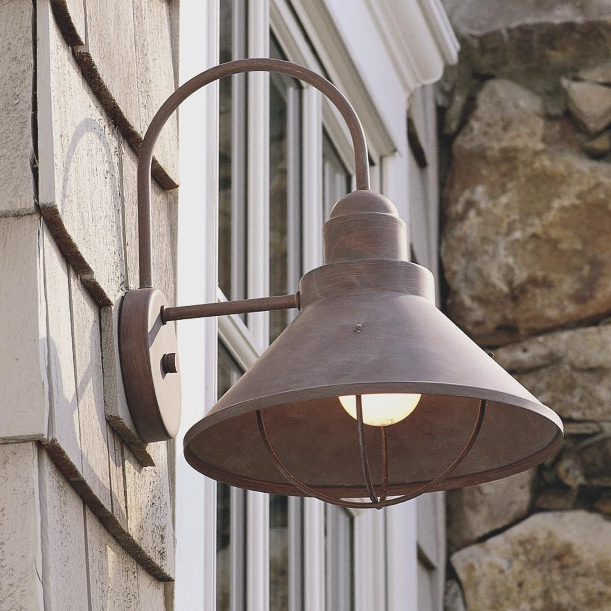 Garage Outside Lighting Ideas: Caboose Outdoor Light - Large