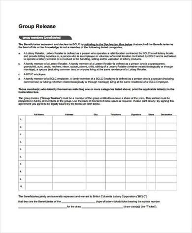 free beneficiary release form sample estate Pinterest Purpose