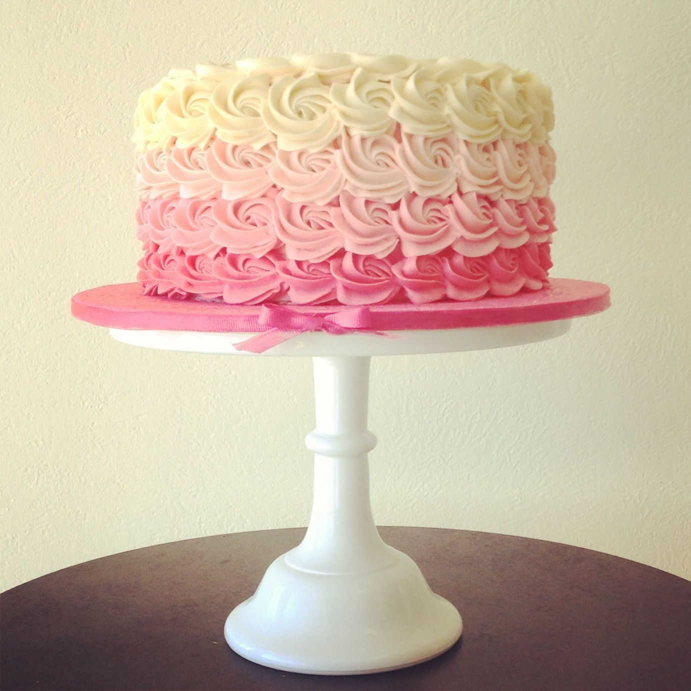 Baby shower cake ... Pink it is ....