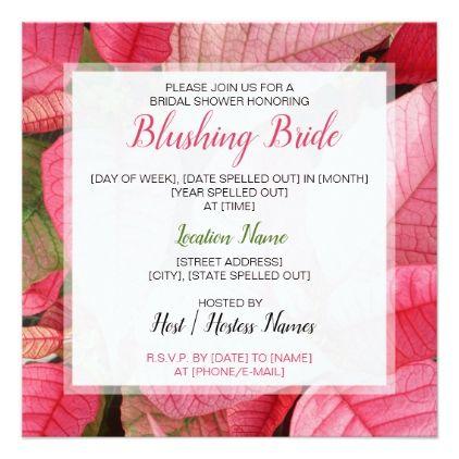 Festive Pink Poinsettia Bridal Shower Invitation