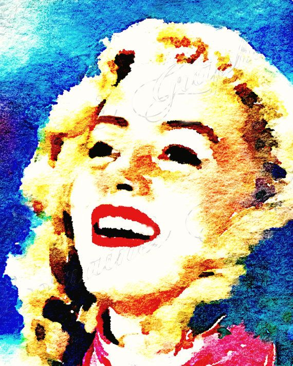 Norma Jean:  A Watercolor Sketch of Young Marilyn Monroe Fine Art Print, Classic Hollywood Home Decor