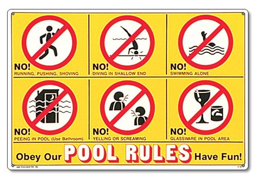swimming pool rules - Google Search | Swimming Pool Rules ...