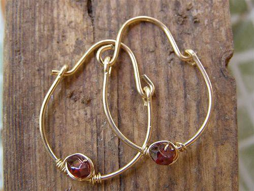 Garnet And Gold filled Earrings by maykela, via Flickr