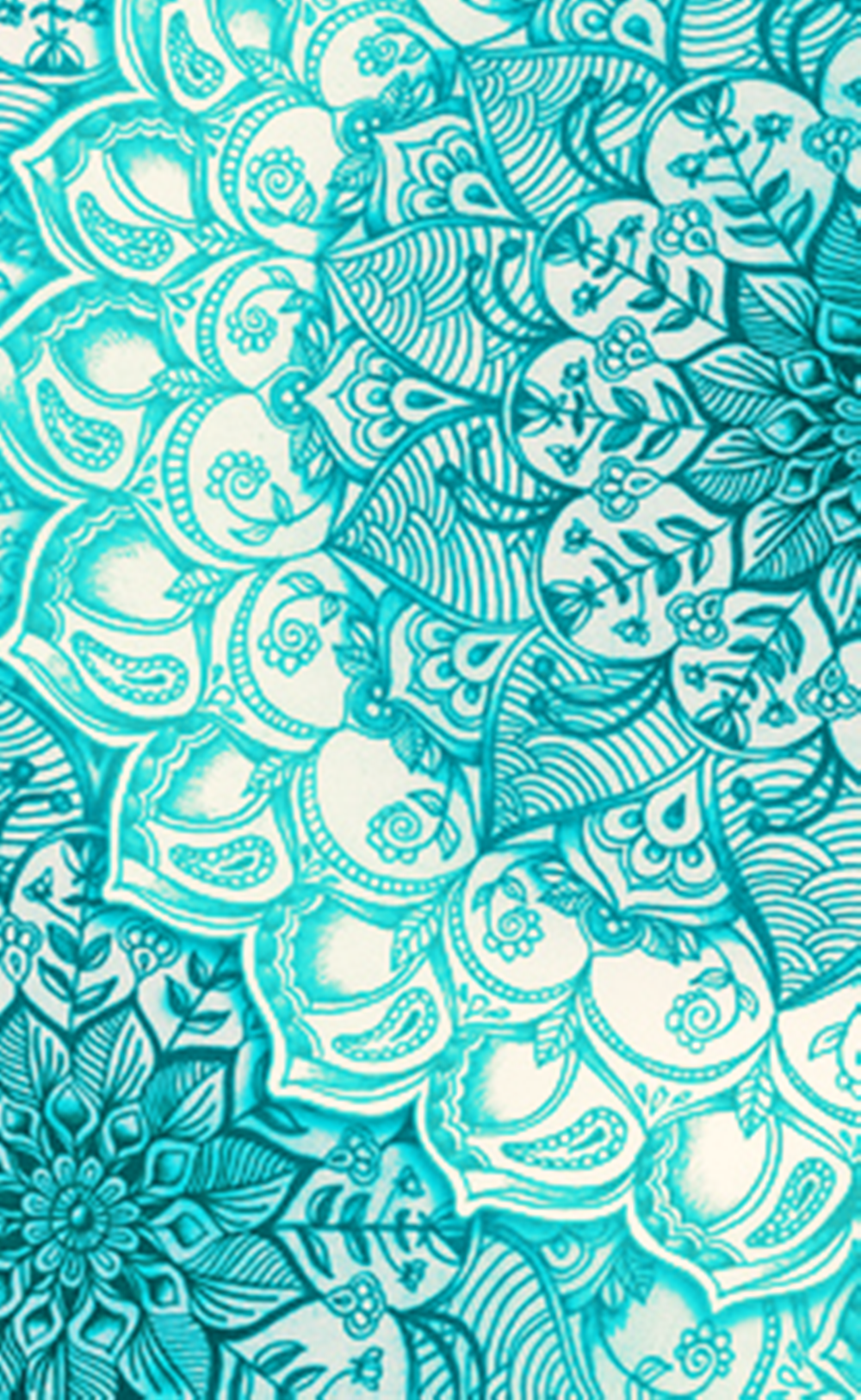 Wallpaper iphone mandala - Teal Turquoise Mandala Pattern Wallpaper Wallpapers From Celular Buscar Con
