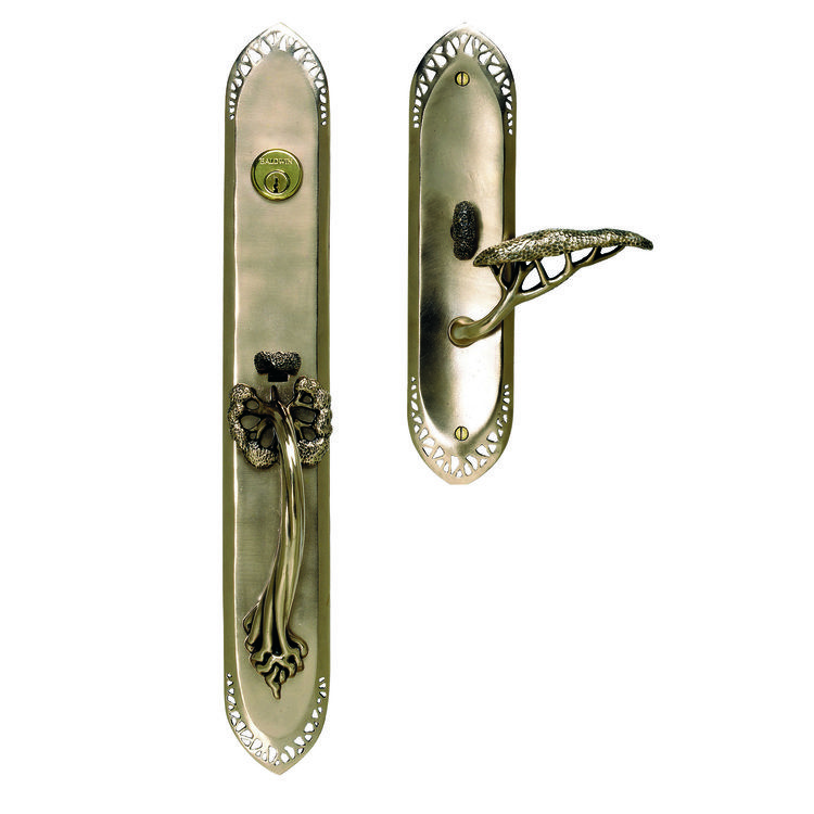 Tree Design Luxury Door Plate With Lever Gold Finish Perfect For A Luxury Home Hotel Or Spa Designerhome Luxuryhome Door Design Unique Doors Door Handles